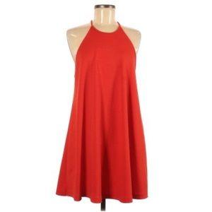 Trafaluc by Zara Casual Red Halter Dress